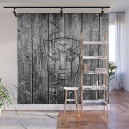Autobot Monochrome Wood Texture Wall Mural