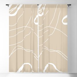 LINEE DI VITA - The lines of life - Modern abstract art hand drawn Blackout Curtain