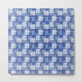 Swanky Mo Blue Metal Print