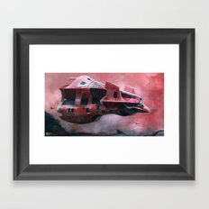 Space ship  Framed Art Print