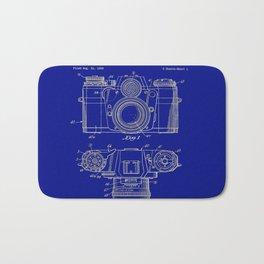 Vintage Camera Patent Blueprint Bath Mat