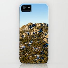 Snow in the shade iPhone Case