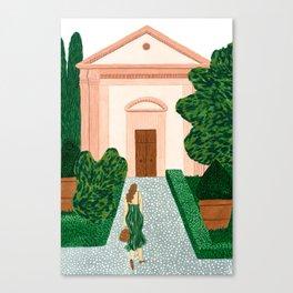 Garden Walk Canvas Print