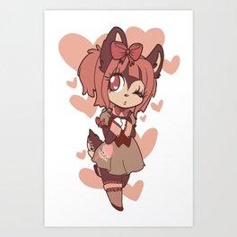 coffee deer sweetheart Art Print
