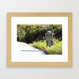 No Photographers Framed Art Print