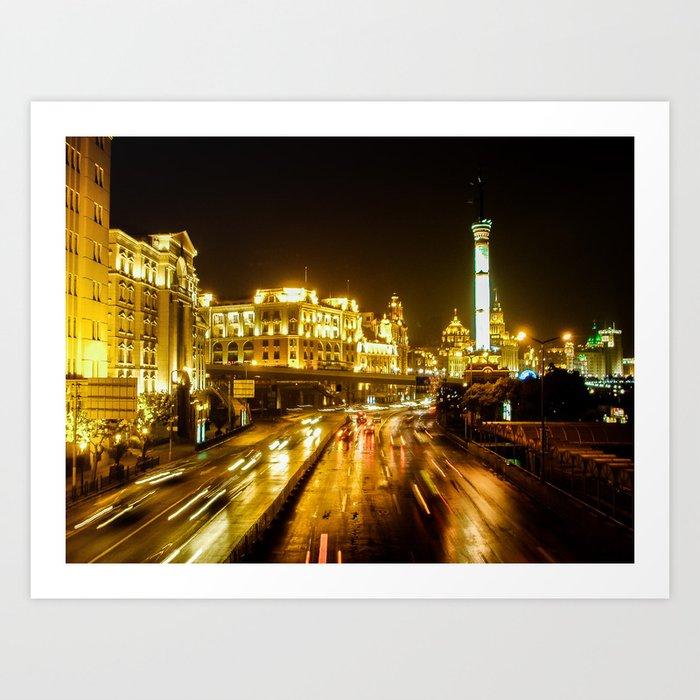 The Bund, Shanghai Art Print