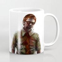 teacher Mugs featuring Zombie Teacher by Brett Fitzpatrick