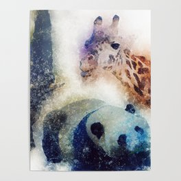 Animals Painting Poster