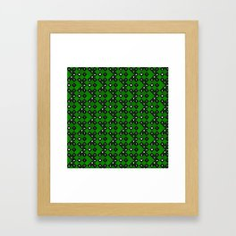 Kingdom Hearts III - Pattern - Green Framed Art Print