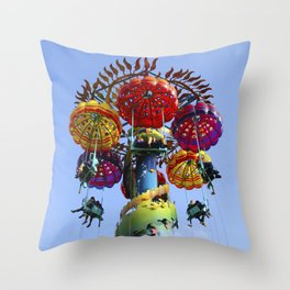 Jumping Jellyfish Throw Pillow