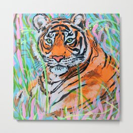 Fresh Tiger Metal Print