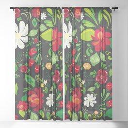 Russian folk Sheer Curtain