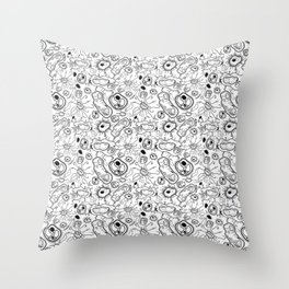 """""""Cells and bacteria's party"""" vol 3 Throw Pillow"""