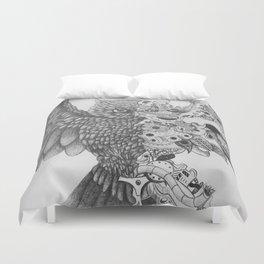 Steampunk Owl Duvet Cover