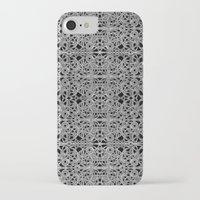 cyberpunk iPhone & iPod Cases featuring Cyberpunk Silver Print Pattern  by DFLC Prints