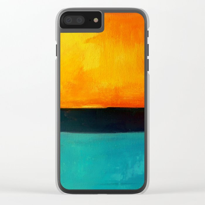 Mark Rothko Interpretation Orange Blue Clear iPhone Case
