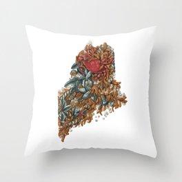 Maine (intertidal zone) Throw Pillow