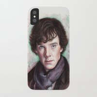 sherlock holmes iPhone & iPod Cases featuring Sherlock Holmes by Olechka