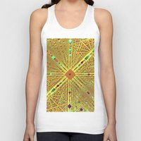 labyrinth Tank Tops featuring Labyrinth by Fractalinear