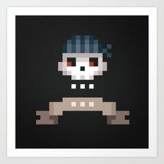 Pixel Skull Art Print