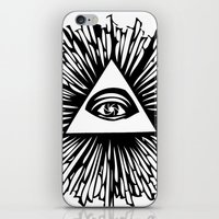 all seeing eye iPhone & iPod Skins featuring All seeing camera eye by dsimpson