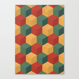 Retro Cubic Canvas Print