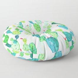 Watercolour Cacti Floor Pillow