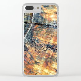Rustic Country Wood Clear iPhone Case