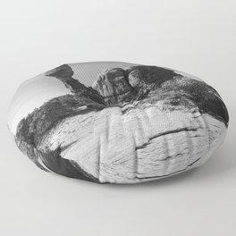 Holding The Balance Floor Pillow