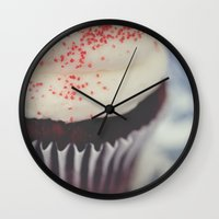 cupcake Wall Clocks featuring cupcake by Beverly LeFevre
