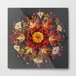 Nature Mandala: October Metal Print