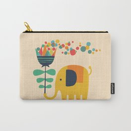 Elephant with giant flower Carry-All Pouch