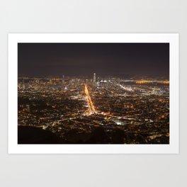 San Francisco, 11:00 pm Art Print