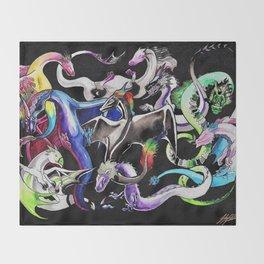 Queer Dragons Throw Blanket