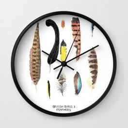 British Birds: Feathers Wall Clock