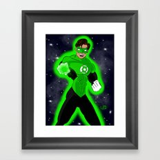 Go Green or Go Home! Framed Art Print