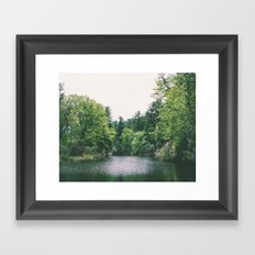 maudslay pond Framed Art Print