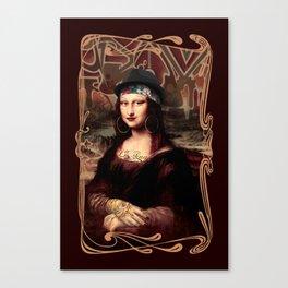 Chicana Mona Lisa Canvas Print