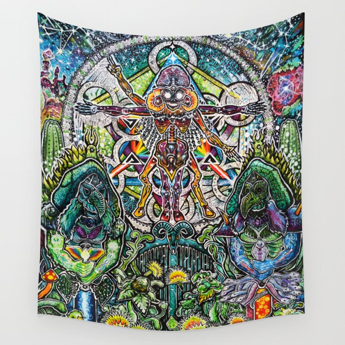 Sorgen And The Keepers Of The Garden Wall Tapestry