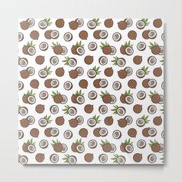 Cute coconuts pattern Metal Print