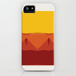 Geometric Afternoon Print iPhone Case