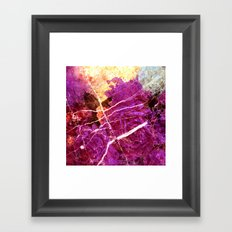 Roses and Marble Framed Art Print