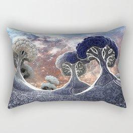 Broccoli Planet in Winter Rectangular Pillow