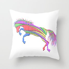 Happy Horse 2 Throw Pillow