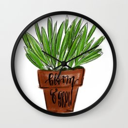 bloom & grow Wall Clock