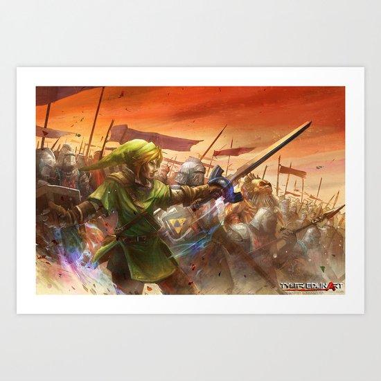 Legendary Battle  Art Print