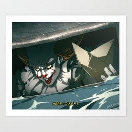 Sewer Clown Art Print