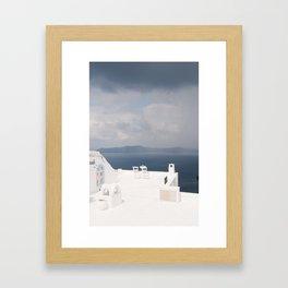 Santorini beautiful view Framed Art Print