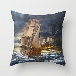 Oceans Pirates Throw Pillow