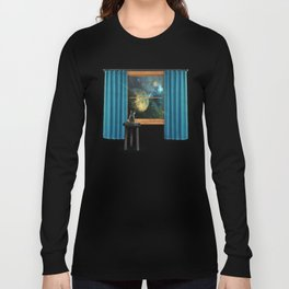 A cat looking outside Long Sleeve T-shirt